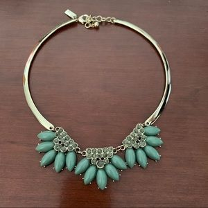 NWOT The Limited Blue & Gold Statement Necklace
